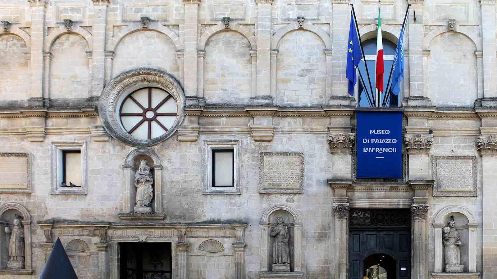 Facciata Palazzo Lanfranchi Matera Sud experience mice events